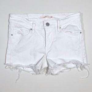 Levi's | White Cutoff 711 Jean Shorts